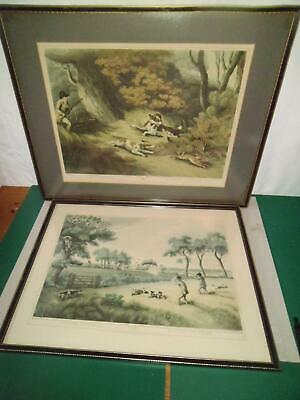 2 Samuel Howitt  Partridge Shooting & Hare Shooting Prints C1807 Hogarth Frames • 29.50£