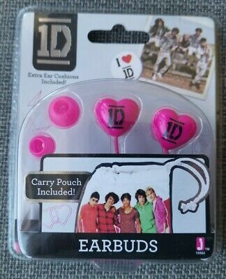 One Direction 1D Pink Earbuds For Universal Smartphone, MP3, Tablet, Laptop Gift • 5.99£