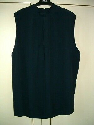 £8.50 • Buy Clearance ~*next* - High Neckline, Navy Sleeveless Top/blouse-18r-new.  Rrp. £18
