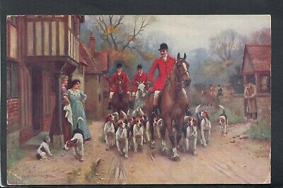£2.63 • Buy Rural Postcard - Fox Hunting - Artist View Of Huntsmen And Hounds  RS20656