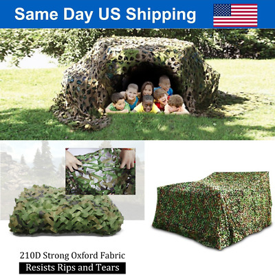 $19.86 • Buy Camouflage Camo Army Green Net Netting Camping Military Hunting Woodland Leaves