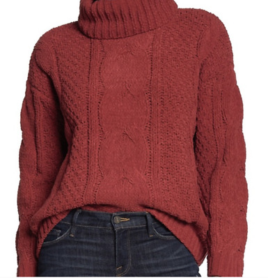 $25 • Buy Just Madison Cable Knit Turtleneck Size XL NWT