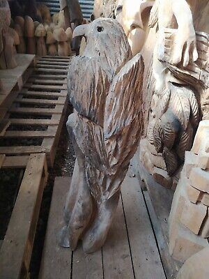 Sussex Chainsaw Carving  Eagle Home Or Garden  Sculpture Rustic Arts Decoration • 70£