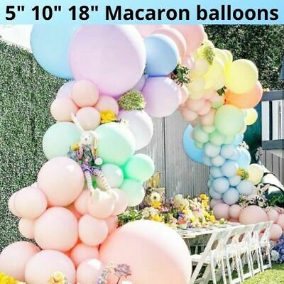 £2.95 • Buy 10-50 Pastel Latex Balloons Macaron Candy Many Colour Party 10  Balloons UK