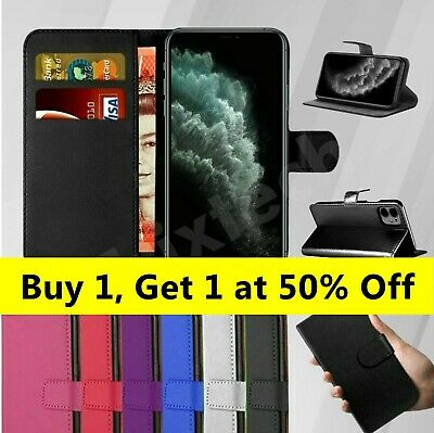 Case For IPhone 12 11 8 7 6 5 Plus MAX XR SE 2 Luxury Leather Flip Wallet Cover • 2.95£