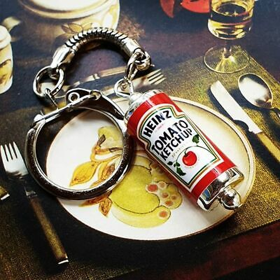 Unique HEINZ TOMATO KETCHUP KEYRING Ex Pat RETRO Keychain FRY UP Breakfast SAUCE • 3.99£