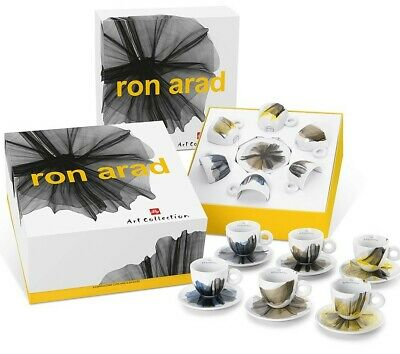 Illy Coffee Art Collection 2017 Ron Arad 6 Cappuccino Cups Signed Set 177 Ml Cup • 233.17£