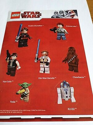 LEGO STAR WARS  Stickers Sheet Of Lego Mini Figures  • 2.99£