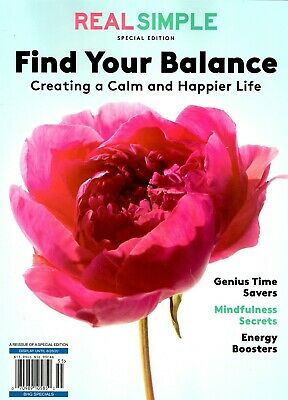 $12.47 • Buy Real Simple Magazine 2020 Creating A Calm Happier Life FIND YOUR BALANCE