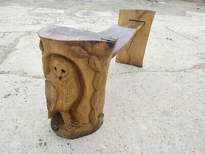 £450 • Buy  Sussex Chainsaw Wood Carving Oak Bench Garden Rustic Sculpture Decoration Owls