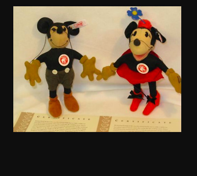 $960 • Buy Steiff Japan Limited Mickey Mouse & Minnie 1000 Limited 2007 Plush Doll Figure
