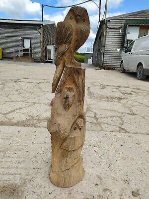 Sussex Chainsaw Wood Carving Elm Owl Garden Rustic Sculpture Decoration • 220£
