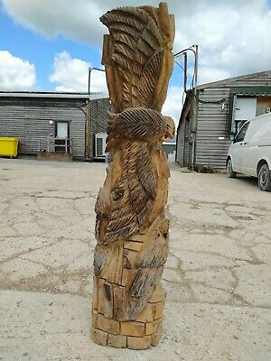 Sussex Chainsaw Wood Carving Elm Owl Garden Rustic Sculpture Decoration • 280£
