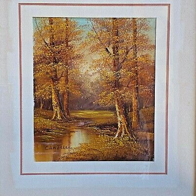 $ CDN59.27 • Buy Vintage Phillip Cantrell Oil On Canvas Trees Landscape Signed