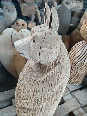Sussex Chainsaw Wood Carving Bear Wolf ? Garden Rustic Sculpture Decoration • 150£