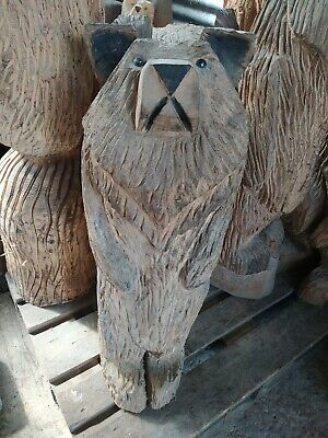 Sussex Chainsaw Wood Carving Bear Home Or Garden Rustic Sculpture Decoration • 100£