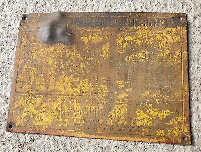 $59.99 • Buy Antique Vintage Brass Caterpillar Tractor Engine ID Tag Hit Miss