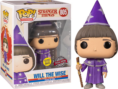 AU19.99 • Buy Stranger Things - Will The Wise - Glow In The Dark - Special Edition Pop! Vinyl