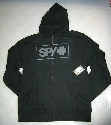 $21.95 • Buy SPY OPTICS BOXED IN FLEECE ZIP UP HOODIE 2XL Black NWT Motocross Bmx Dh Mtb SPY+