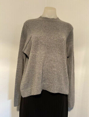 AU52 • Buy Scanlan Theodore Relaxed Grey Melange Cashmere Jumper/Sweater.  Size SM