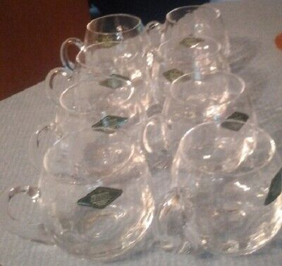 $11.95 • Buy Shannon Crystal Punch Bowl Glasses 8 Of Them Clear Glass