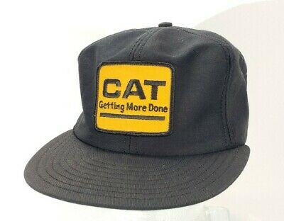$15.79 • Buy Vintage CAT Getting More Done Trucker Patch Hat Louisville MFG Co Snapback A19
