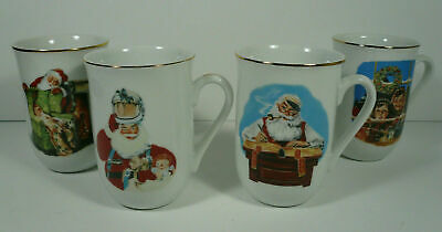 $ CDN32.94 • Buy New Set Of 4 Norman Rockwell Museum Christmas Mugs Signed By The Curator