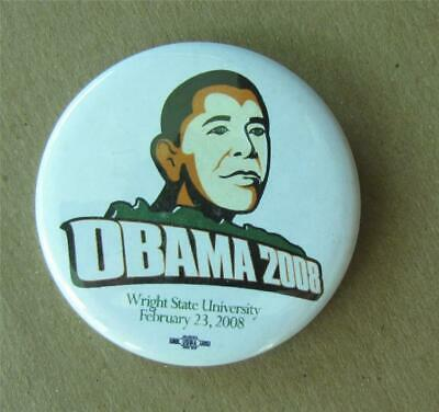 $5.28 • Buy Obama 2008 Wright State University Feb 23 2008 Political Campaign Pinback Button