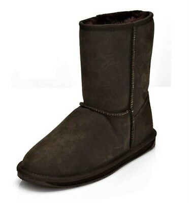 $43.94 • Buy EMU Stinger Lo Water Resistant Boots Suede And Sheepskin Winter Boots Brown UK 3