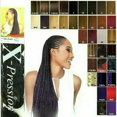 Xpression Hair Extension- Lagos Braid - Ultra Braid - Pre Stretched And Normal • 5.50£