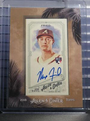 $0.99 • Buy 2018 Allen & Ginter Max Fried Mini Framed RC Auto Autograph Braves NY