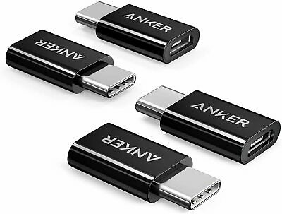 AU57.95 • Buy Anker USB-C To Micro USB Adapter [4-Pack] , Converts USB Type-C Input To Micro U