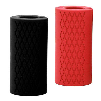 AU19.55 • Buy 2x Thick Fat Barbell Silicone Grips Home Arm Wrap Bar Dumbbell Grip Weight Train