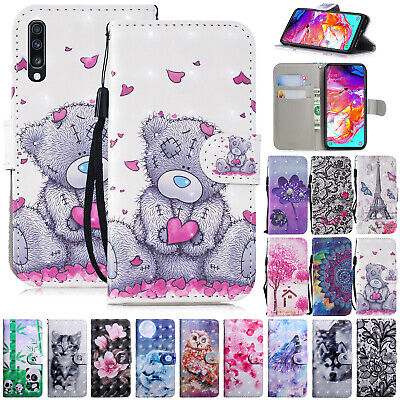 For Samsung A10 A30 A40 A50 A70 Phone Case Leather Stand Flip Folio Wallet Cover • 4.99£