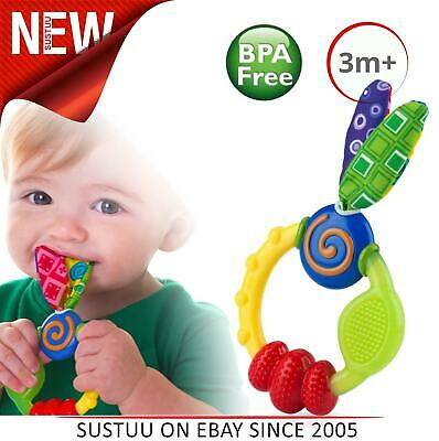 £4.76 • Buy Nuby Wacky Teether│Baby Feeding Dummy│Silicone Soother│Teething Ring Toy│3m+