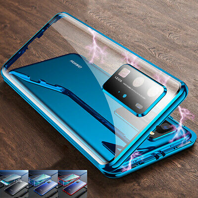 Case For Huawei P40 Pro Lite P30 360° Full Glass Clear Magnetic Phone Cover • 7.59£