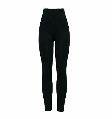 Ladies Black Firm Control LEGGINGS Shaping Slimming High Waist Tummy Tucker • 7.98£
