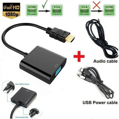 £4.79 • Buy HDMI To VGA Audio Converter Adapter Output And Power In Micro USB Cable Black UK