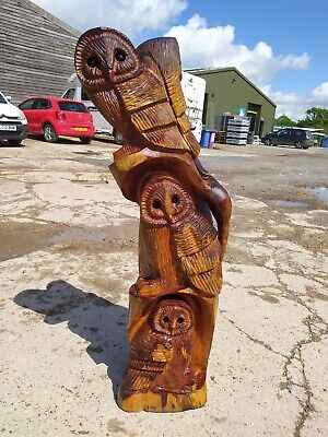 £320 • Buy Sale Sussex Chainsaw Wood Carving Quality Yew Home Garden Rustic Sculpture Art