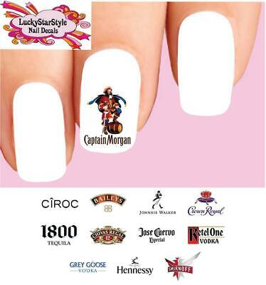 £2.84 • Buy Waterslide Alcoholic Nail Decals Set Of 48 - Alcohol Spirits Liquor Assorted #2