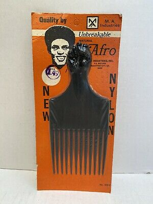 $11.99 • Buy Vintage Nylon Black Afro Pick Comb M.A Industries Georgia USA 400-C