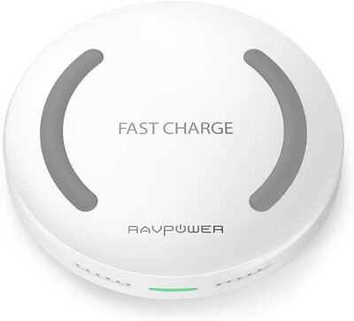 AU23.60 • Buy Wireless Charger RAVPower Qi-Certified Fast Wireless Charging Pad, 10W Fast Char