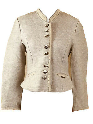 $69.99 • Buy Geiger Boiled Wool Jacket 36 Beige Long Sleeve Button Up Career Luxe