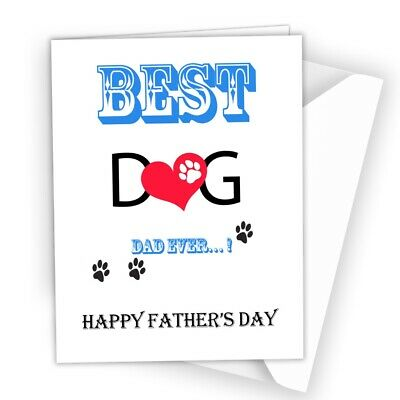 £2.49 • Buy Funny Fathers Day Card From The Dog - Best Dog Dad Father's Card Dog Daddy A37