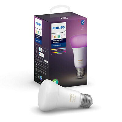 AU109 • Buy Philips Hue 9W E27 Multicolour Bluetooth LED Light Bulb/800LM Globe APP/Wi-Fi