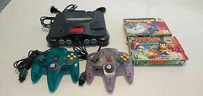 AU295 • Buy Nintendo 64 System Console 2 Controllers And 2 Games Excellent Working Order