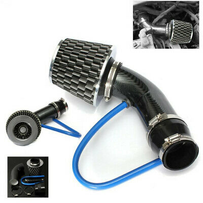 $34.32 • Buy Carbon Fibre Car Cold Air Intake Filter Induction Pipe Power Flow Hose System