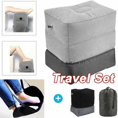 AU20.99 • Buy Inflatable Foot Rest Travel Air Pillow Cushion Office Home Leg Footrest Pad Kids