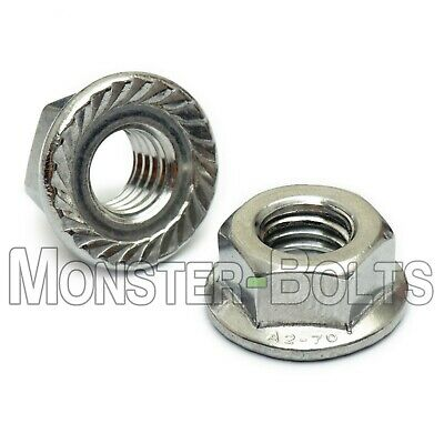 $5.68 • Buy Serrated Hex Flange Lock Nuts DIN 6923, A2 Stainless Steel - M4 M5 M6 M8 M10 M12