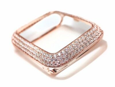 $ CDN99.21 • Buy EMJ Series 1,2,3 Bling Apple Watch Zirconia Rose Gold Bezel Face Case 38 /42 Mm